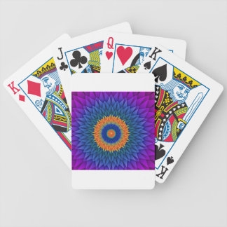 Multi Flower Purple Origami Bicycle Playing Cards