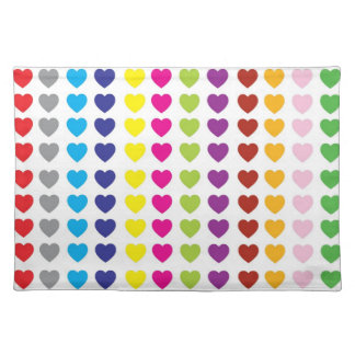 Multi Hearts In Colors American MoJo Placemat