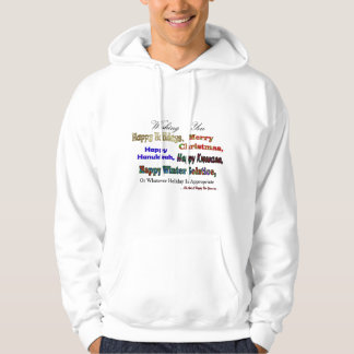 Multi holiday greeting hoodie