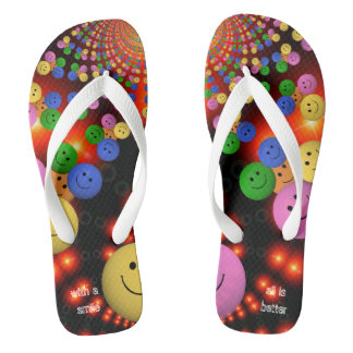 Multi smiley Spalls multicolor Jandals
