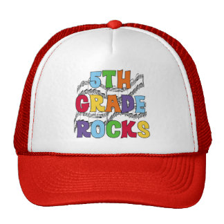 Multicolor 5th Grade Rocks T shirts and Gifts Trucker Hat