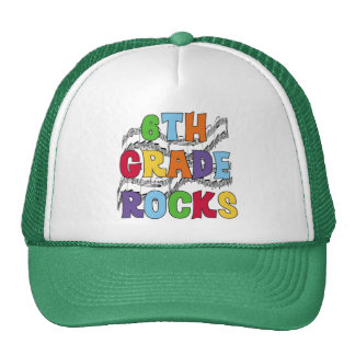 Multicolor 6th Grade Rocks Tshirts and Gifts Hats