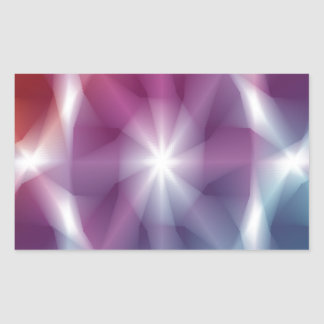 Multicolor Abstract Art Rectangular Sticker