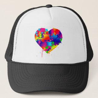 Multicolor Art Heart Trucker Hat