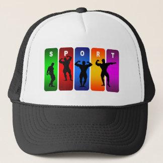 Multicolor Bodybuilding Emblem Trucker Hat