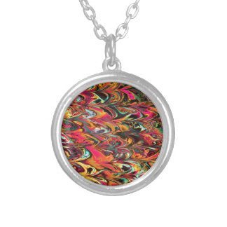 Multicolor Fractal. Parrot Pattern. Abstract Art. Necklace