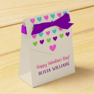 Multicolor Hearts All Occasion Favor Box