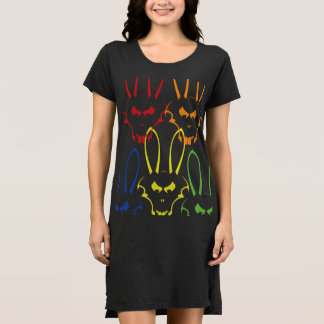 Multicolor J. Rabbit Logo Dress