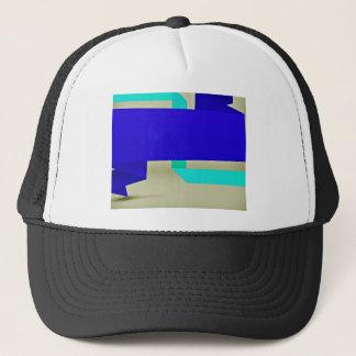 Multicolor line strokes trucker hat