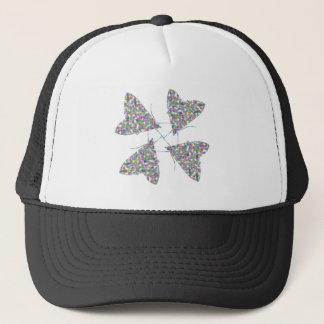 Multicolor Moth Art Hat