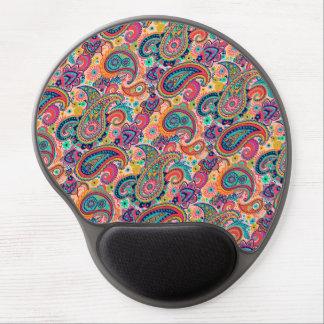 Multicolor Pink Orange Blue Paisley Pattern Gel Mouse Pad