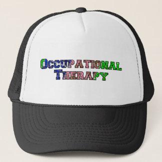 multicolor plaid OT Trucker Hat