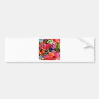 Multicolor umbrellas bumper sticker