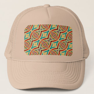 Multicolored Abstract Chains. Geometric Pattern Trucker Hat