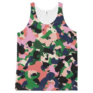 Multicolored camo tank top