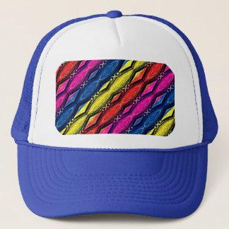 Multicolored Chains Pattern. Artistic Design Trucker Hat