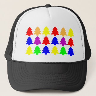 Multicolored Christmas Trees Trucker Hat
