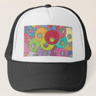 Multicolored circles trucker hat