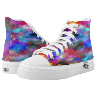 Multicolored Collage High Tops