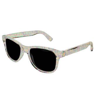 Multicolored Digital GrungePrint Sunglasses