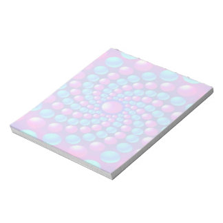 Multicolored fractal balls notepad