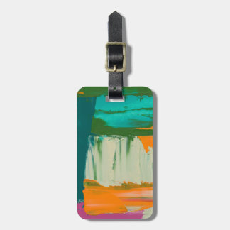 Multicolored Free Expression Painting Luggage Tag