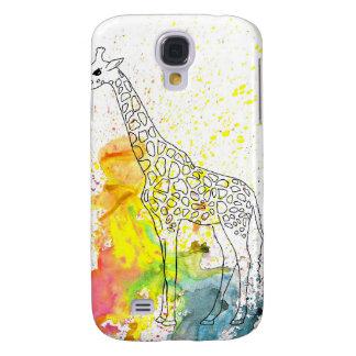 Multicolored Funky Giraffe (K.Turnbull Art) Galaxy S4 Case