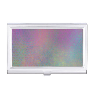 Multicolored Grungy Texture Abstract Remix Business Card Holder
