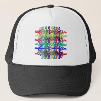 Multicolored interweaving trucker hat