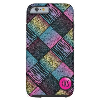 Multicolored Jungle Animal Patterns  Monogram Tough iPhone 6 Case