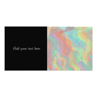 Multicolored Pastel Abstract Watercolor Art Personalized Photo Card