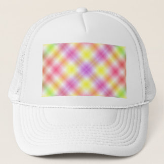 Multicolored Plaid Background Trucker Hat