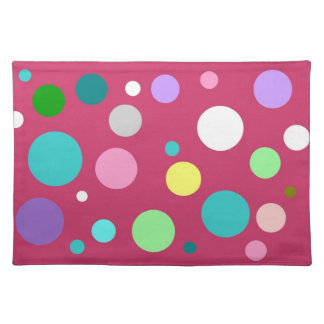 Multicolored points placemat
