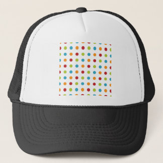 Multicolored Polka Dots Trucker Hat