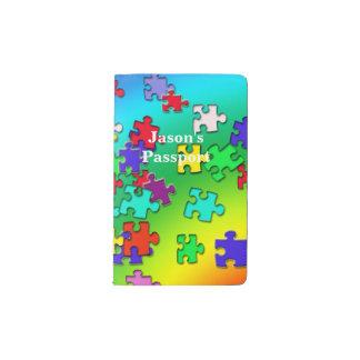 Multicolored puzzles pocket moleskine notebook
