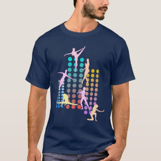 Multicolored silhouettes of a dancer T-Shirt