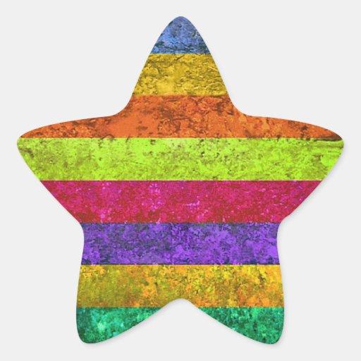 Multicolored Vintage Sticker