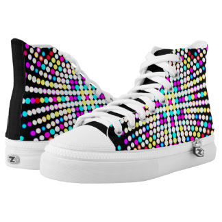 Multicolors patterns high tops