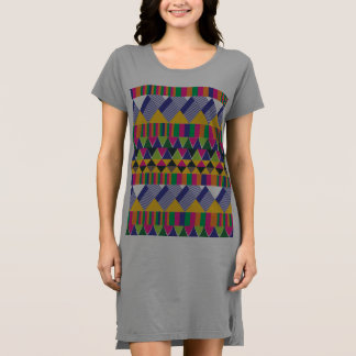 Multicolour Aztec geometric print Dress