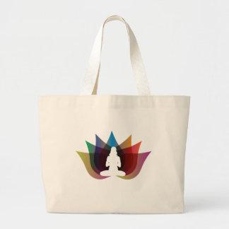 Multicolour lotus flower Yoga bag