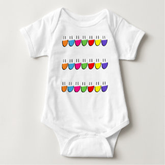 Multicoloured Smiley Face Infant Creeper (Romper)