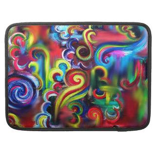 Multicoloured Swirls Sleeve For MacBooks