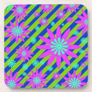 Multicolred Flower Design Coaster