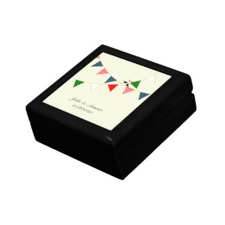 Multicultural Wedding Mexico Bunting Small Square Gift Box