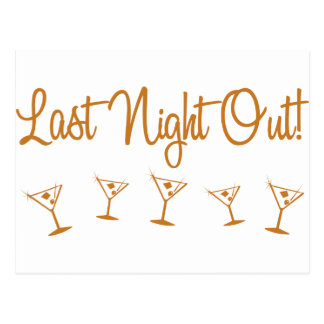 MultiMartini-LastNightOut-Orng Postcard