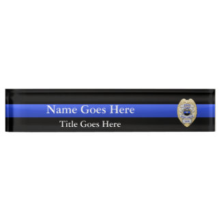 Multiple Choice Police Chief 1-Star Badges Nameplate