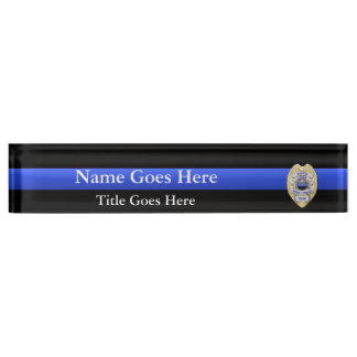 Multiple Choice Police Chief Badges Eagle Rank Name Plate