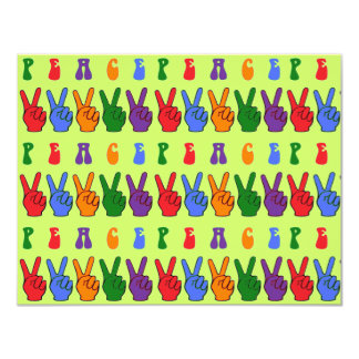 Multiple Multicolor Hand Peace Signs Announcement