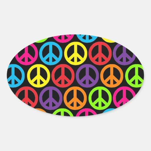 Multiple Multicolor Peace Stickers