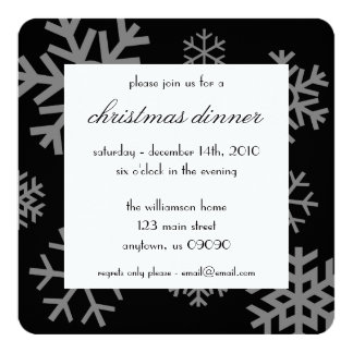 Multiple Snowflakes Christmas Invitations (Black)
